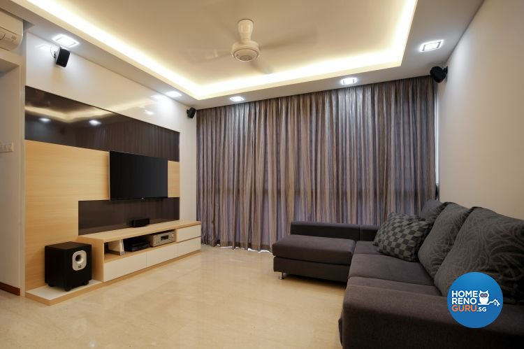 Contemporary, Minimalist Design - Living Room - Condominium - Design by Vegas Interior Design Pte Ltd