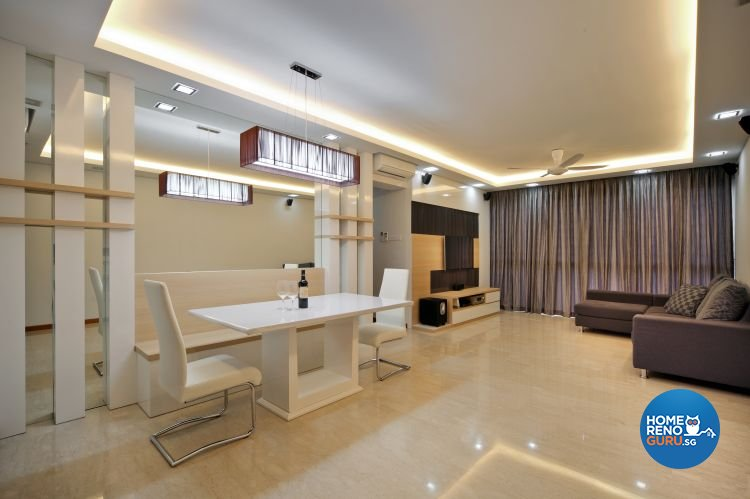 Contemporary, Minimalist Design - Dining Room - Condominium - Design by Vegas Interior Design Pte Ltd