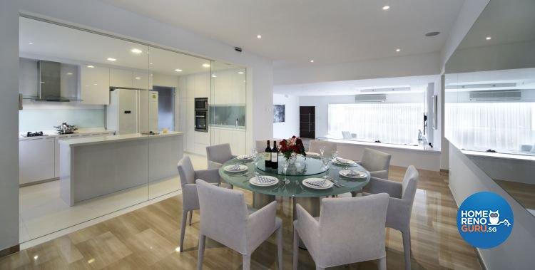 Contemporary, Minimalist Design - Dining Room - Condominium - Design by Vegas Interior Design Pte Ltd