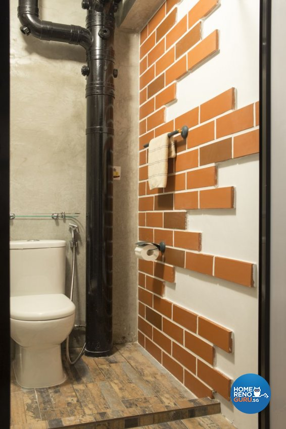 Industrial, Retro Design - Bathroom - HDB 4 Room - Design by Vegas Interior Design Pte Ltd