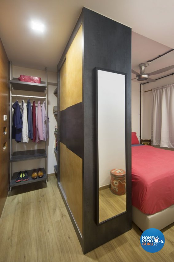Industrial, Retro Design - Bedroom - HDB 4 Room - Design by Vegas Interior Design Pte Ltd