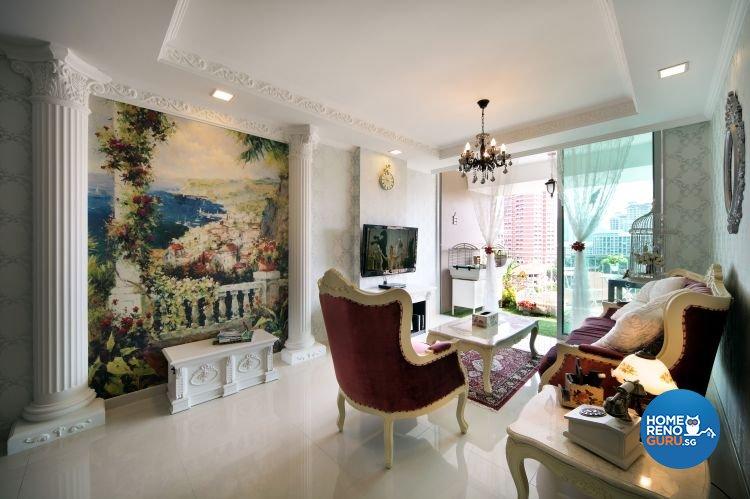 Classical, Vintage Design - Living Room - HDB 4 Room - Design by Vegas Interior Design Pte Ltd