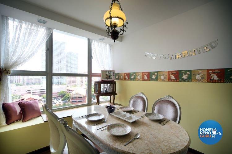 Classical, Vintage Design - Dining Room - HDB 4 Room - Design by Vegas Interior Design Pte Ltd