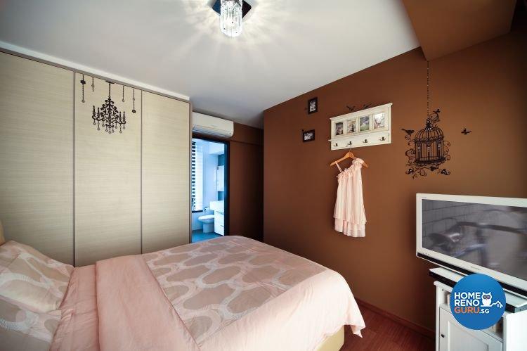 Classical, Vintage Design - Bedroom - HDB 4 Room - Design by Vegas Interior Design Pte Ltd