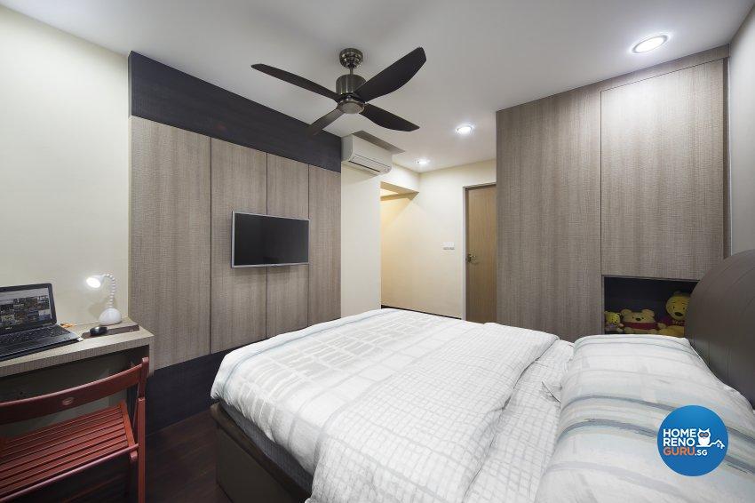 Industrial Design - Bedroom - HDB 4 Room - Design by Vegas Interior Design Pte Ltd