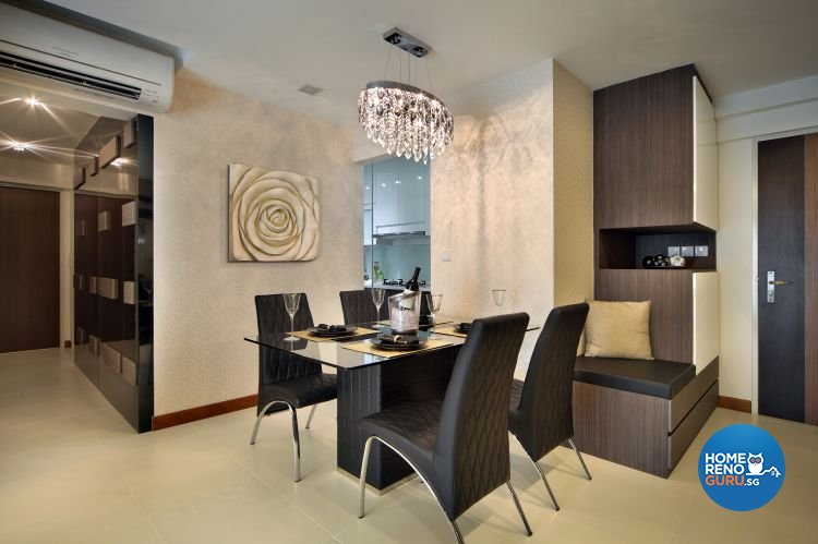 Classical, Contemporary Design - Dining Room - HDB 5 Room - Design by Vegas Interior Design Pte Ltd