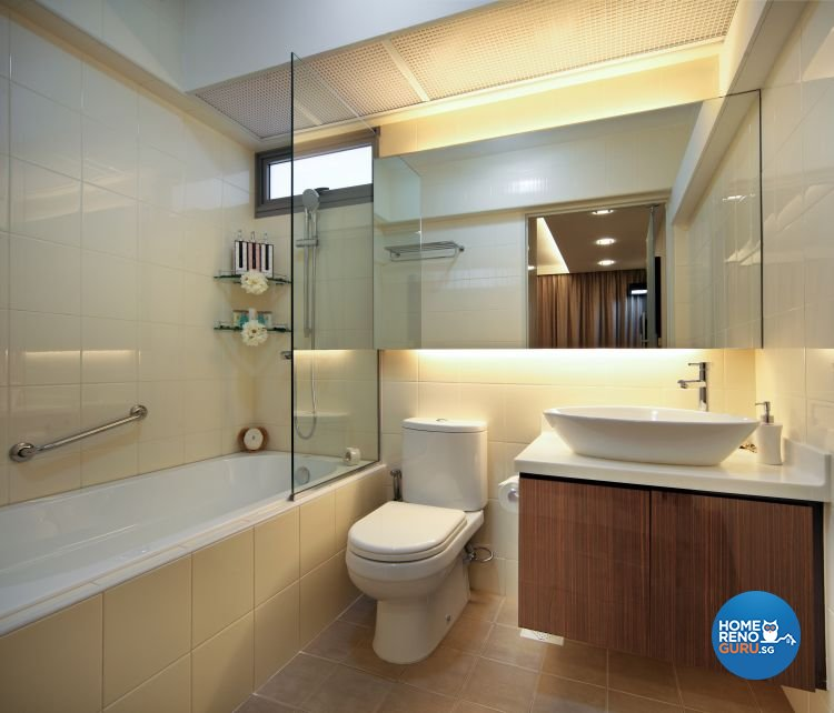 Classical, Contemporary Design - Bathroom - HDB 5 Room - Design by Vegas Interior Design Pte Ltd