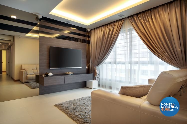 Classical, Contemporary Design - Living Room - HDB 5 Room - Design by Vegas Interior Design Pte Ltd