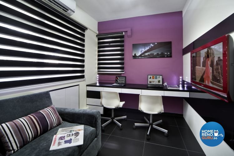 Classical, Modern Design - Study Room - HDB 5 Room - Design by Vegas Interior Design Pte Ltd
