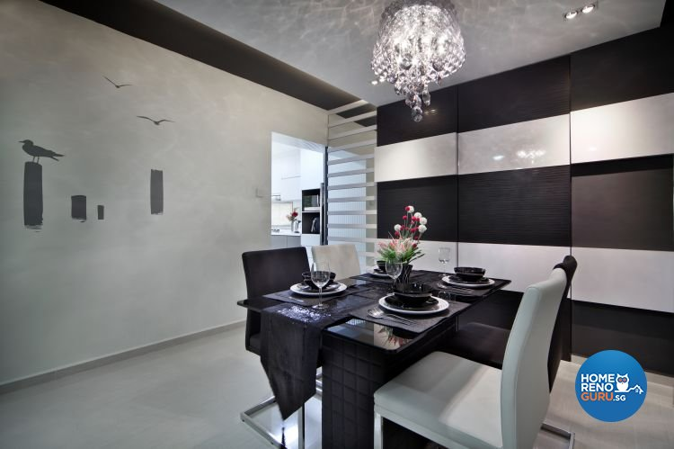 Classical, Modern Design - Dining Room - HDB 5 Room - Design by Vegas Interior Design Pte Ltd