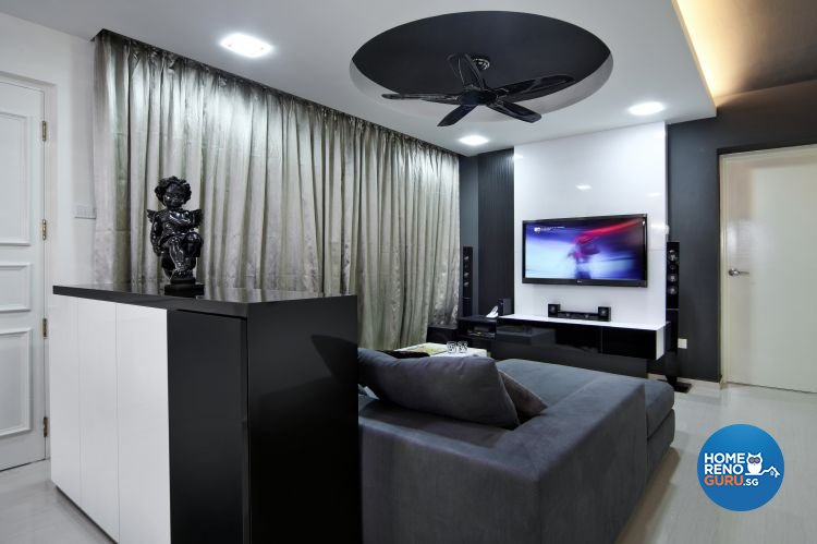Classical, Modern Design - Living Room - HDB 5 Room - Design by Vegas Interior Design Pte Ltd