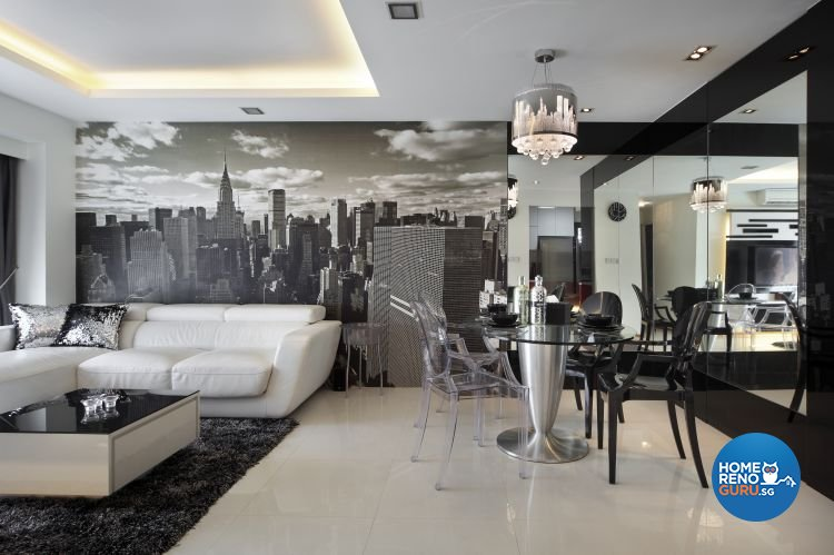 Classical, Contemporary, Modern Design - Living Room - HDB 4 Room - Design by Vegas Interior Design Pte Ltd