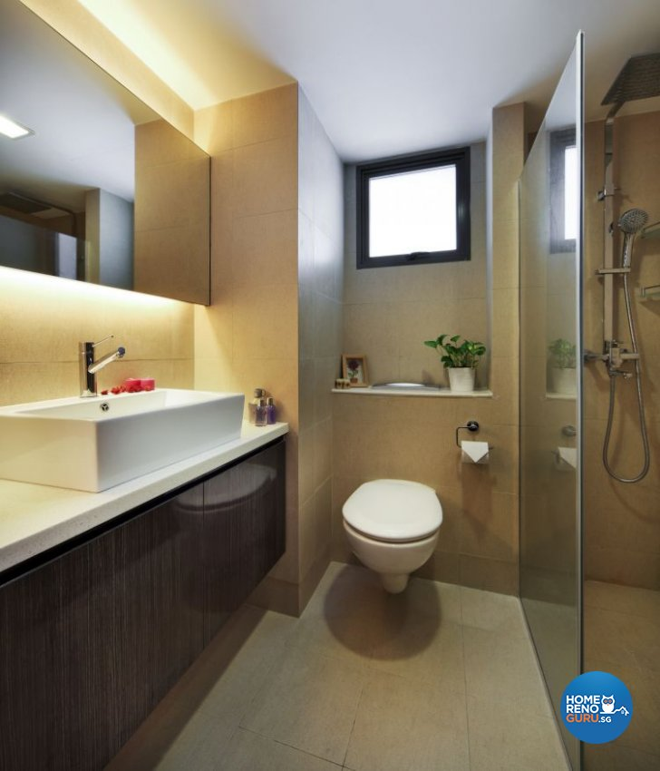 Classical, Contemporary, Modern Design - Bathroom - HDB 4 Room - Design by Vegas Interior Design Pte Ltd