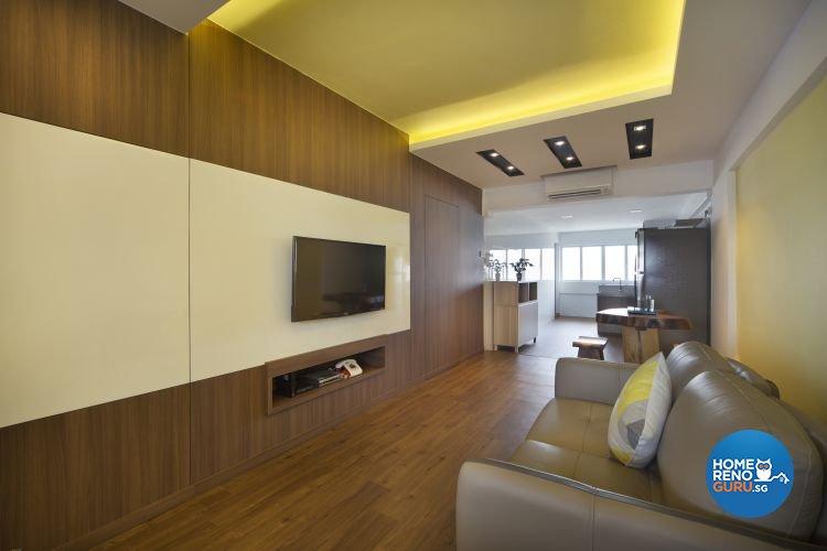 Contemporary Design - Living Room - HDB 3 Room - Design by Vegas Interior Design Pte Ltd