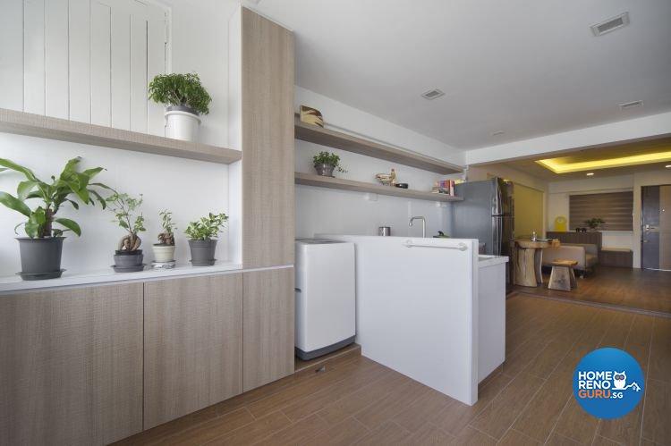 Contemporary Design - Kitchen - HDB 3 Room - Design by Vegas Interior Design Pte Ltd
