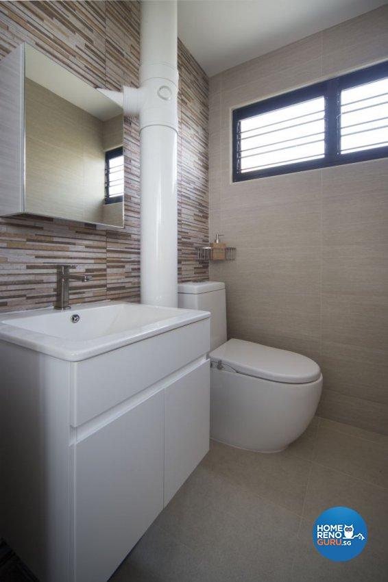 Contemporary Design - Bathroom - HDB 3 Room - Design by Vegas Interior Design Pte Ltd