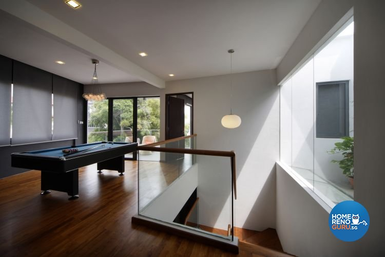 Industrial, Minimalist Design - Entertainment Room - Landed House - Design by Vegas Interior Design Pte Ltd