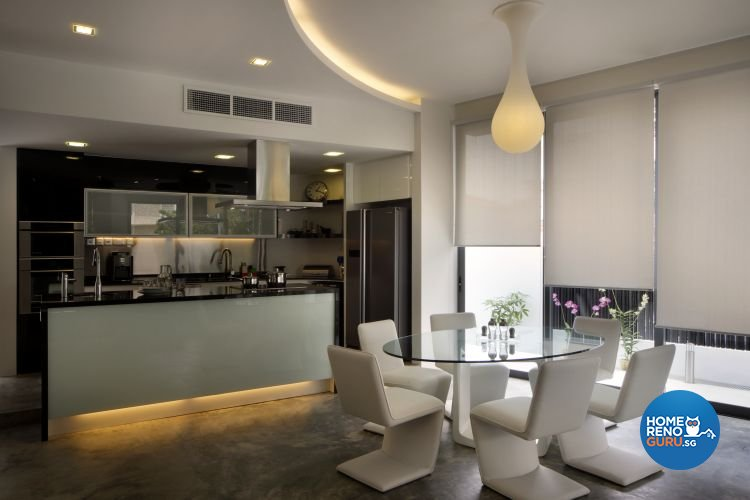 Industrial, Minimalist Design - Dining Room - Landed House - Design by Vegas Interior Design Pte Ltd