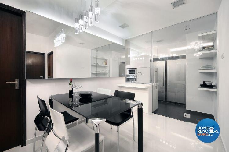 Minimalist, Modern Design - Dining Room - Condominium - Design by Vegas Interior Design Pte Ltd