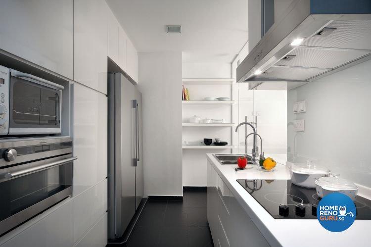Minimalist, Modern Design - Kitchen - Condominium - Design by Vegas Interior Design Pte Ltd