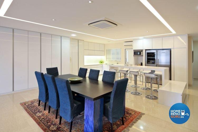Modern Design - Dining Room - Condominium - Design by Vegas Interior Design Pte Ltd