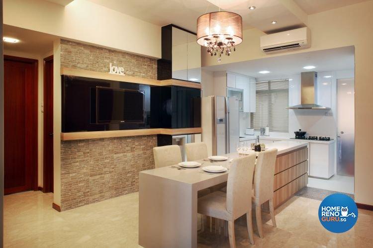 Classical, Contemporary Design - Dining Room - Condominium - Design by Vegas Interior Design Pte Ltd