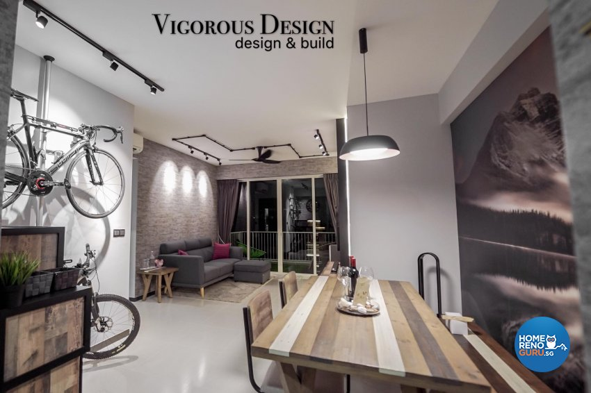 Resort, Rustic Design - Living Room - Condominium - Design by Vigorous Design