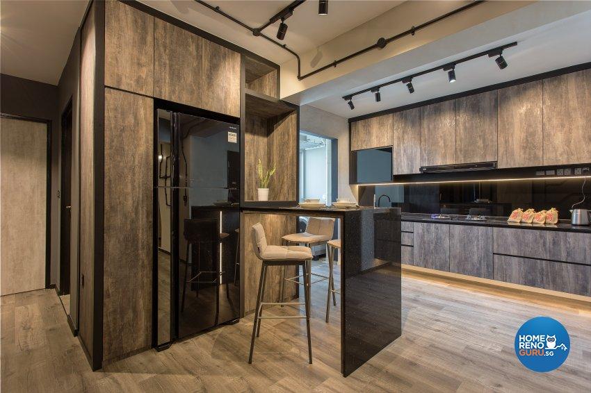 Industrial, Rustic, Vintage Design - Kitchen - HDB 4 Room - Design by Vigorous Design