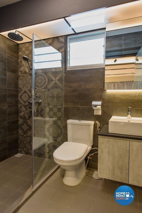Industrial, Rustic, Vintage Design - Bathroom - HDB 4 Room - Design by Vigorous Design