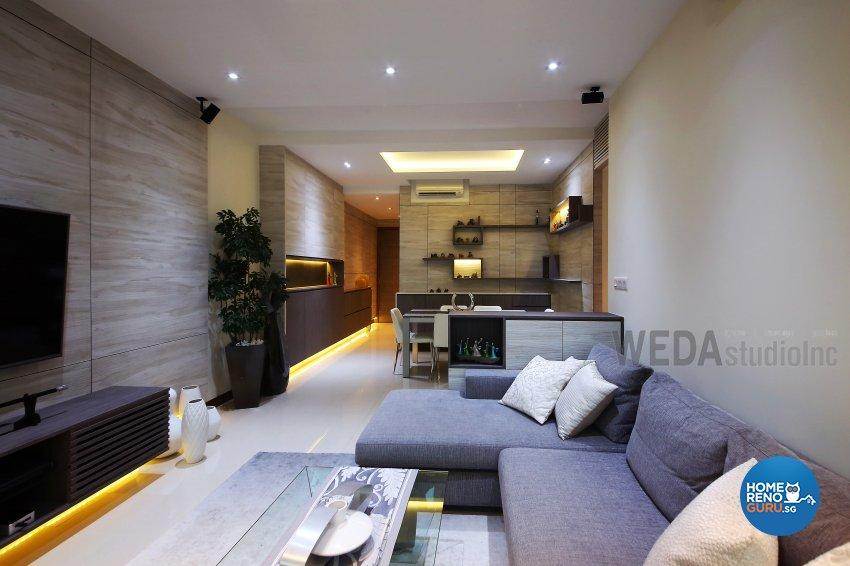 Contemporary, Modern Design - Living Room - Condominium - Design by WEDA StudioInc Pte Ltd