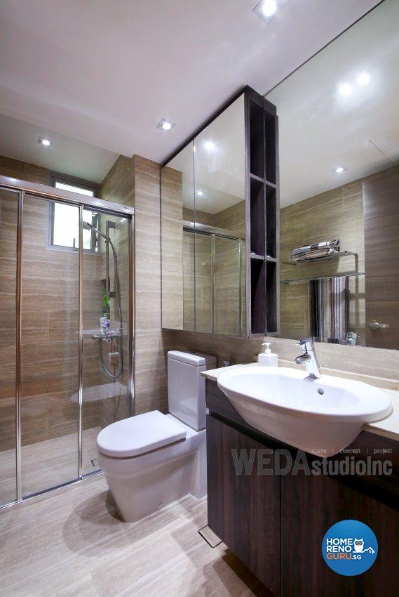 Contemporary, Modern Design - Bathroom - Condominium - Design by WEDA StudioInc Pte Ltd