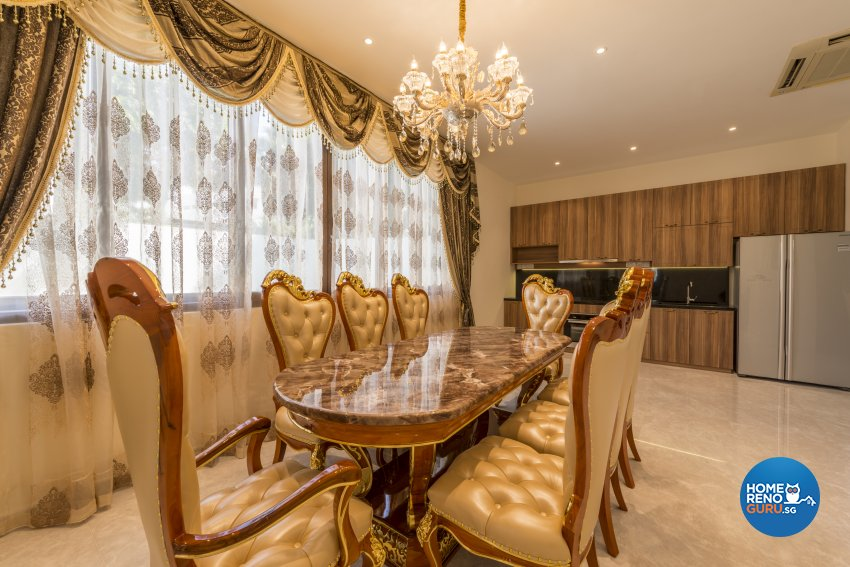 Classical, Victorian Design - Dining Room - Landed House - Design by WEDA StudioInc Pte Ltd