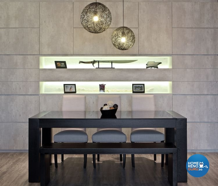 Minimalist, Modern Design - Dining Room - Condominium - Design by WEDA StudioInc Pte Ltd