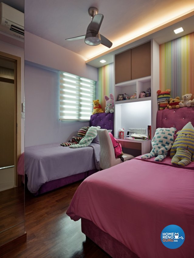 Contemporary, Retro Design - Bedroom - Condominium - Design by Weiken.com Design Pte Ltd