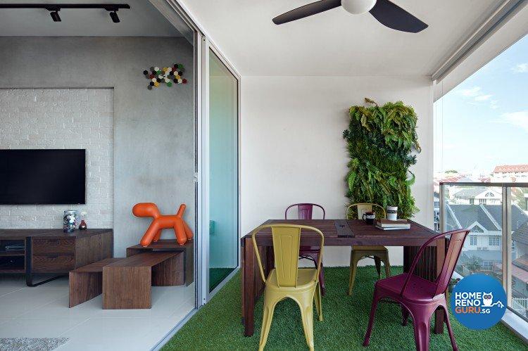 Contemporary, Modern, Scandinavian Design - Balcony - Condominium - Design by Weiken.com Design Pte Ltd