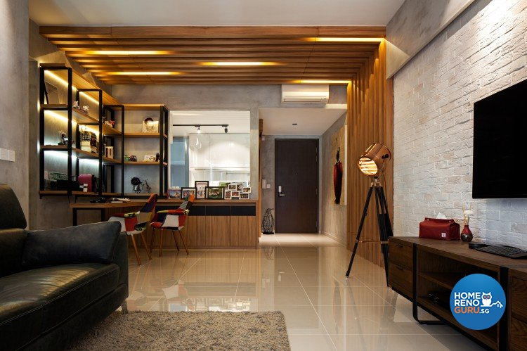 Contemporary, Modern, Scandinavian Design - Living Room - Condominium - Design by Weiken.com Design Pte Ltd
