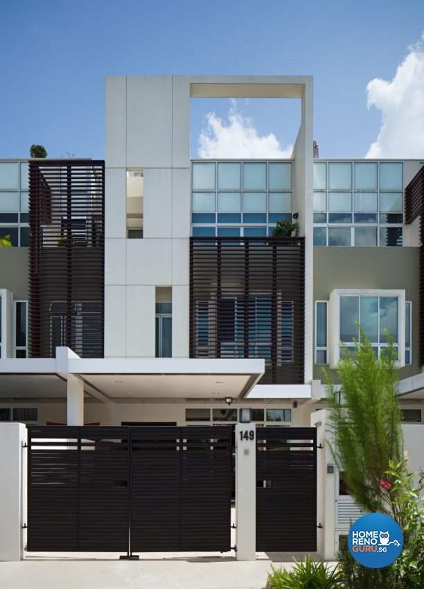 Modern, Vintage Design - Balcony - Landed House - Design by Weiken.com Design Pte Ltd