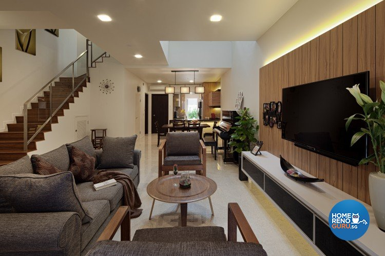 Modern, Vintage Design - Living Room - Landed House - Design by Weiken.com Design Pte Ltd