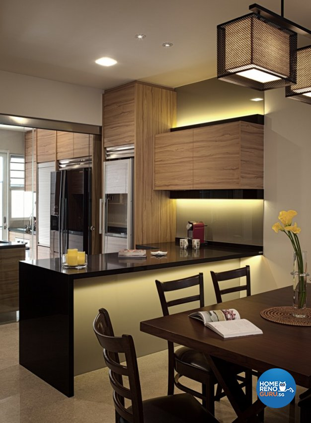 Modern, Vintage Design - Dining Room - Landed House - Design by Weiken.com Design Pte Ltd