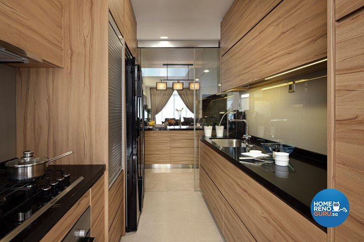 Modern, Vintage Design - Kitchen - Landed House - Design by Weiken.com Design Pte Ltd