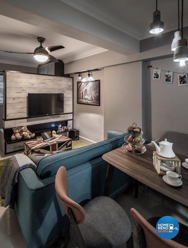 Contemporary, Modern, Scandinavian Design - Living Room - HDB 3 Room - Design by Weiken.com Design Pte Ltd