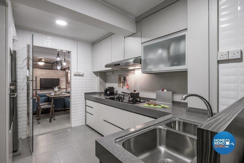 Contemporary, Modern, Scandinavian Design - Kitchen - HDB 3 Room - Design by Weiken.com Design Pte Ltd