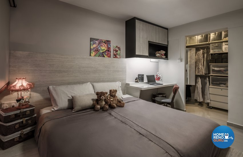 Contemporary, Modern, Scandinavian Design - Bedroom - HDB 3 Room - Design by Weiken.com Design Pte Ltd