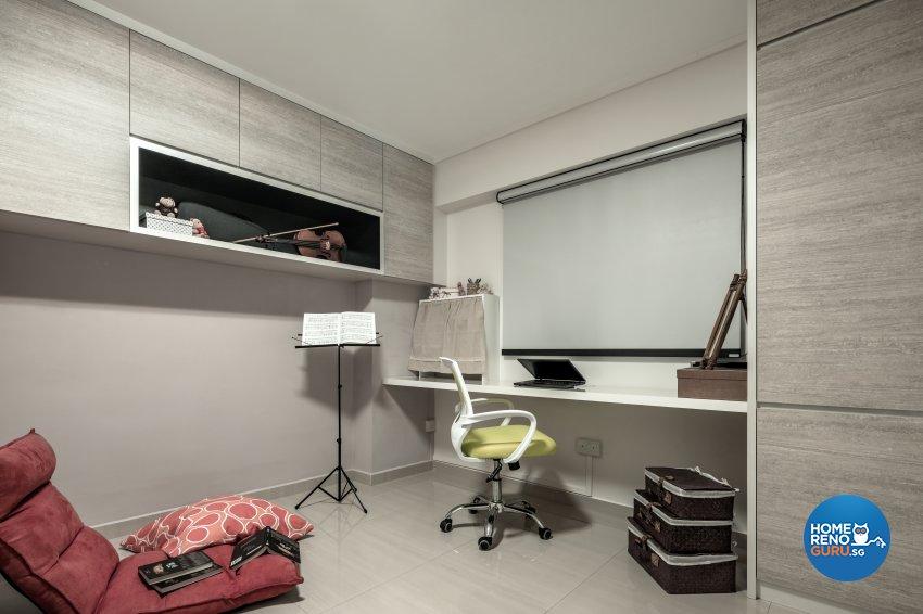 Contemporary, Modern, Scandinavian Design - Study Room - HDB 3 Room - Design by Weiken.com Design Pte Ltd