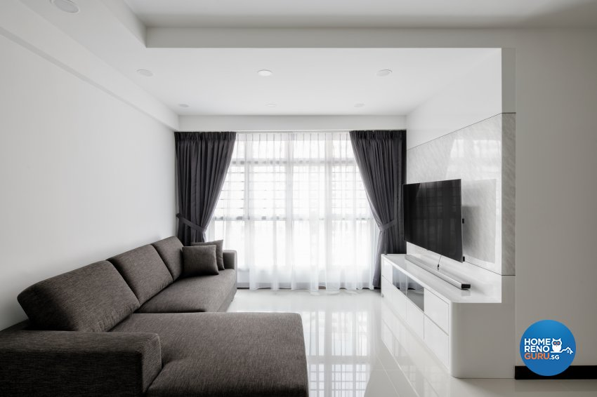 Minimalist Design - Living Room - Condominium - Design by Weiken.com Design Pte Ltd