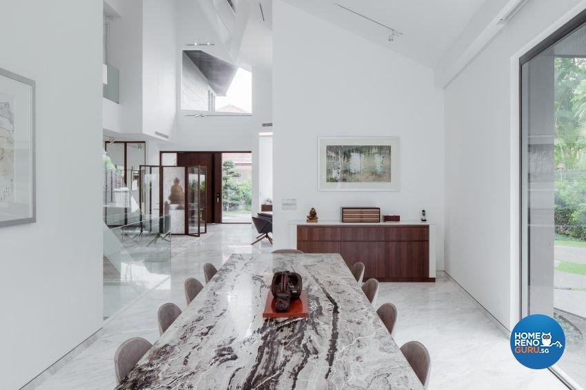 Minimalist Design - Dining Room - Landed House - Design by Weiken.com Design Pte Ltd