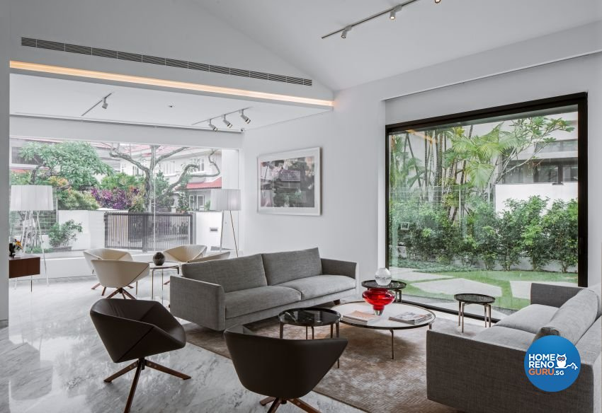 Minimalist Design - Living Room - Landed House - Design by Weiken.com Design Pte Ltd