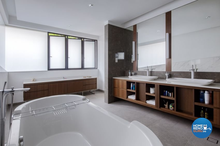 Minimalist Design - Bathroom - Landed House - Design by Weiken.com Design Pte Ltd