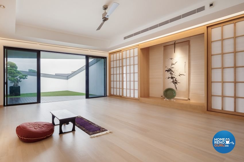 Minimalist Design - Entertainment Room - Landed House - Design by Weiken.com Design Pte Ltd