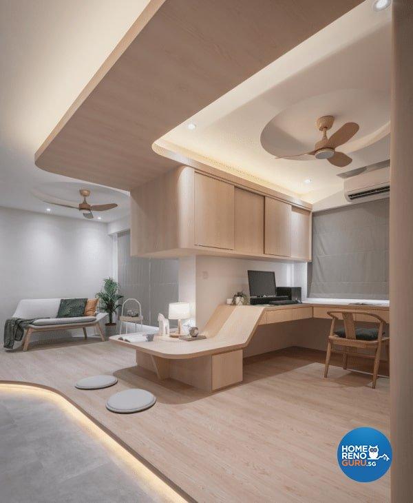 Scandinavian Design - Study Room - HDB 4 Room - Design by Weiken.com Design Pte Ltd